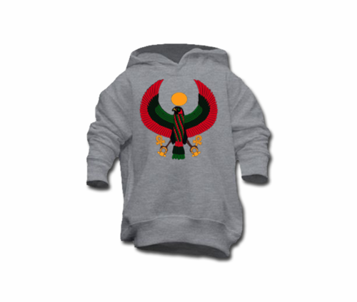 Toddler Heather Grey Heru Pullover Hoodie