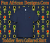 Toddler Navy Blue Heru Collard Shirt