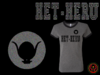Womens Heather Grey and Black Het - Heru T-Shirt With Brilliant Black Metallic/Foil Print