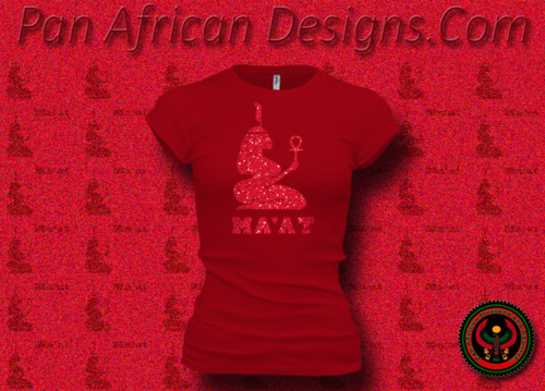 Women's Red and Red Maat T-Shirts with Glitter
