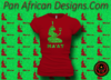 Women's Red and Green Maat T-Shirts with Glitter