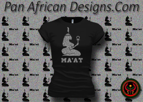 Women's Black and Silver Maat T-Shirts with Glitter