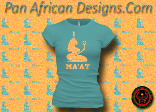 Women's Teal and Gold Maat T-Shirts with Glitter