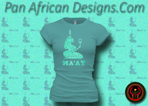 Women's Teal and Neon Green Maat T-Shirts with Glitter