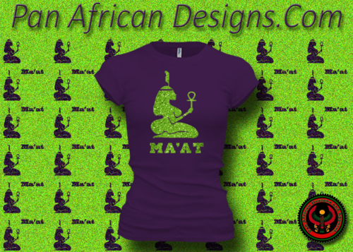 Women's Purple and Green Maat T-Shirts with Glitter
