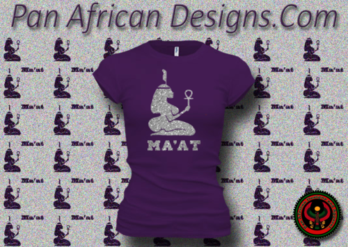 Women's Purple and Silver Maat T-Shirts with Glitter