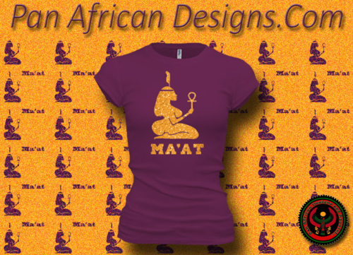 Women's Current and Gold Maat T-Shirts with Glitter