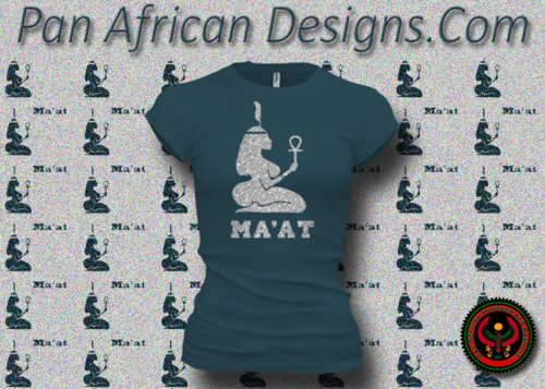 Women's Deep Teal and Silver Maat T-Shirts with Glitter