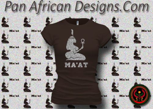 Women's Chocolate and Silver Maat T-Shirts with Glitter