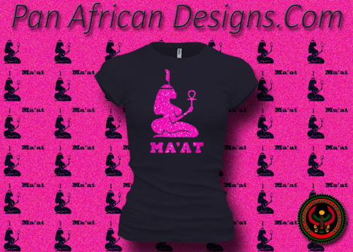 Women's Midnight Blue and Hot Pink Maat T-Shirts with Glitter