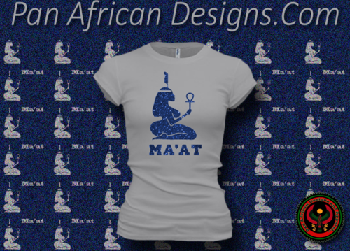 Women's Silver and Blue Maat T-Shirts with Glitter