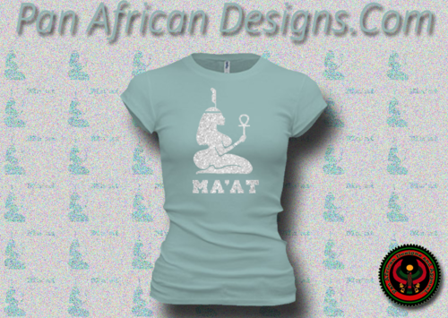 Women's Seafoam and Silver Maat T-Shirts with Glitter