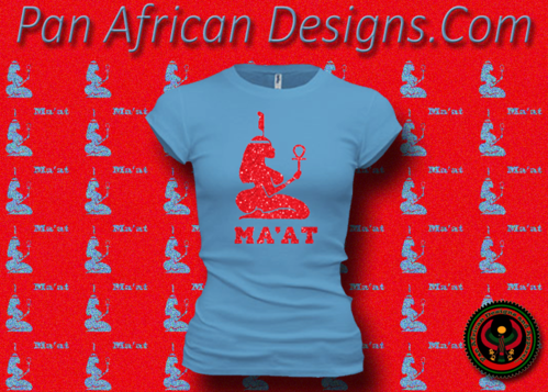 Women's Ocean Blue and Red Maat T-Shirts with Glitter