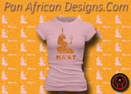 Women's Pink and Gold Maat T-Shirts with Glitter