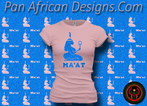 Women's Pink and Royal Blue Maat T-Shirts with Glitter
