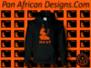 Women's Black and Orange Ma'at Hoodie with Glitter
