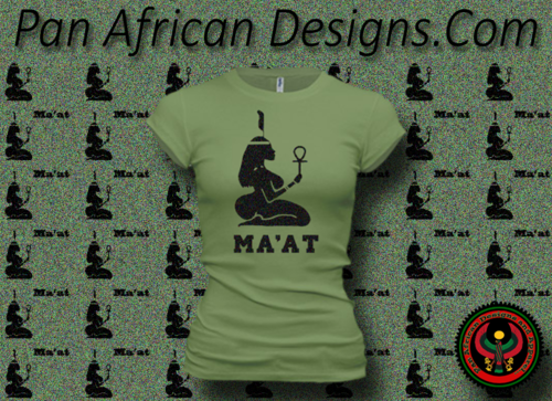 Women's Moss Green and Black Maat T-Shirts with Glitter