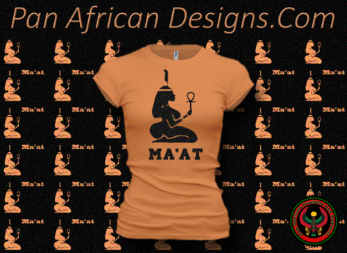 Women's Orange Sabot and Black Maat T-Shirts with Glitter