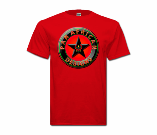 Men's Red with Black Star Heru T-Shirt