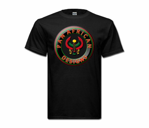 Men's Black Heru T-Shirt with Black Heru Seal Design