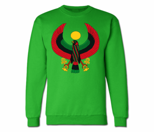 Men's Irish Green Heru Crewneck Sweatshirts