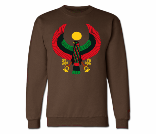 Men's Chocolate Heru Crewneck Sweatshirts
