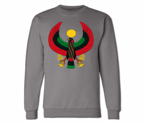 Men's Charcoal Grey Heru Crewneck Sweatshirts