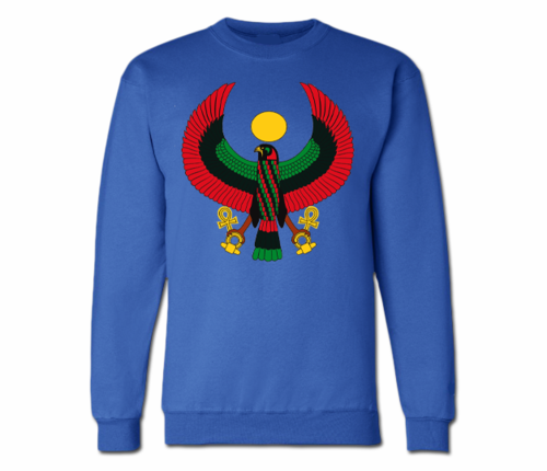 Men's Royal Blue Heru Crewneck Sweatshirts