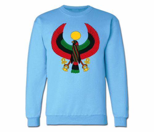 Men's Carolina Blue Heru Crewneck Sweatshirts