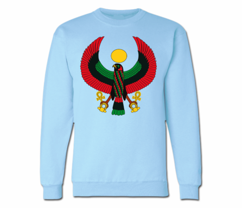 Men's Baby Blue Heru Crewneck Sweatshirts
