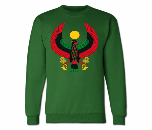 Men's Forest Green Heru Crewneck Sweatshirts