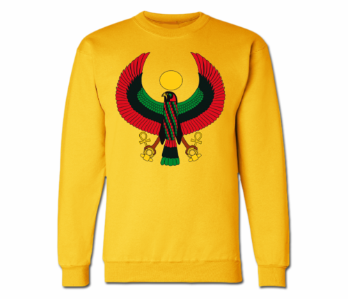 Men's Gold Heru Crewneck Sweatshirts