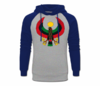 Men's Heru Navy Blue and Heather Grey Hoodie