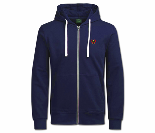 Women's Navy Blue with White String Heru Hoodie