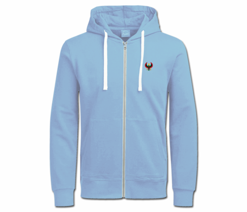 Women's Carolina Blue with White String Heru Hoodie