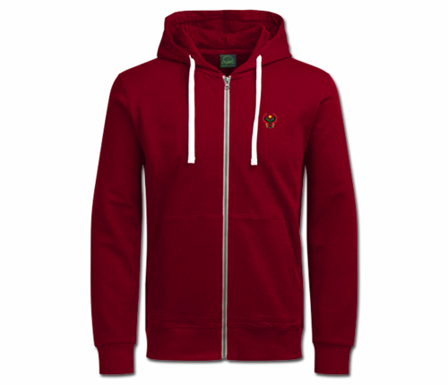 Women's Maroon with White String Heru Hoodie