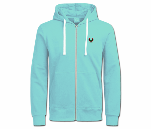 Women's Teal with White String Heru Hoodie