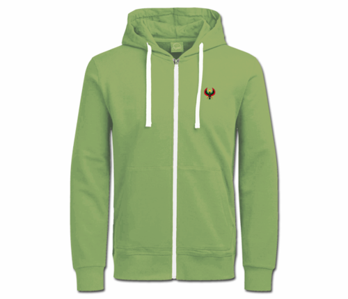 Women's Army Green with White String Heru Hoodie