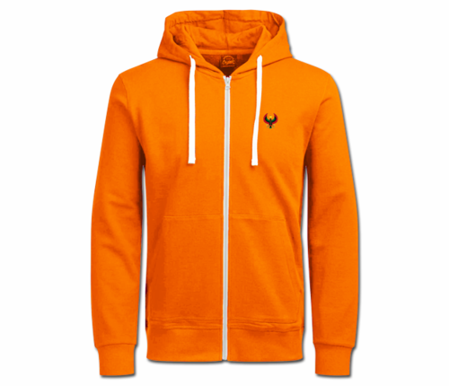 Women's Tangerine Orange with White String Heru Hoodie