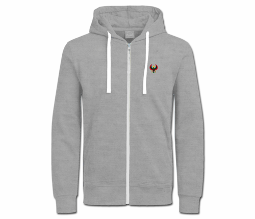 Women's Heather White with String Heru Hoodie