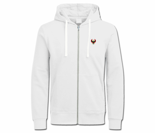 Women's White Heru with White String Hoodie
