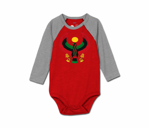 Toddler Cherry/Charcoal Grey Heru Baseball Onesie
