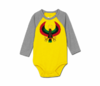 Toddler Heru Sunshine/Heather Grey Baseball Onesie