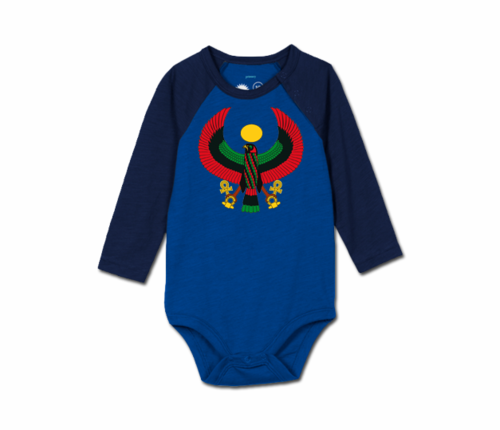 Toddler Colbalt/Navy Blue Heru Baseball Onesie