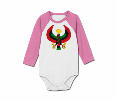 Toddler Lilac/White Heru Baseball Onesie