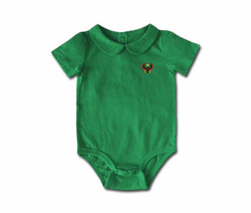 Girls Grass Toddler Heru Collar Onesie