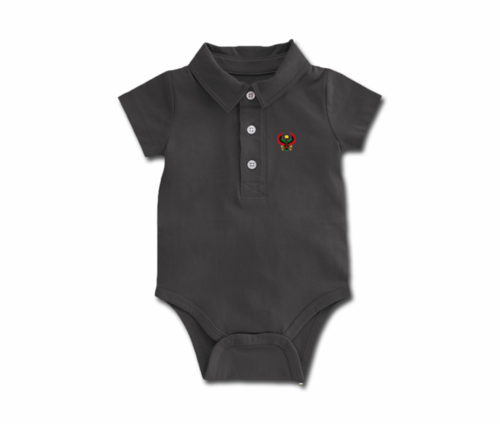 Toddler Slate Grey Heru Collar Onesie