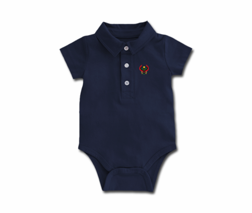 Toddler Navy Blue Heru Collar Onesie