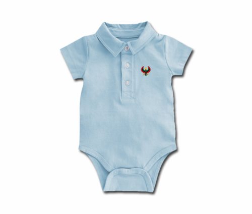 Toddler Sky Blue Heru Collar Onesie