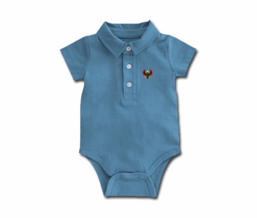 Toddler Slate Blue Heru Collar Onesie